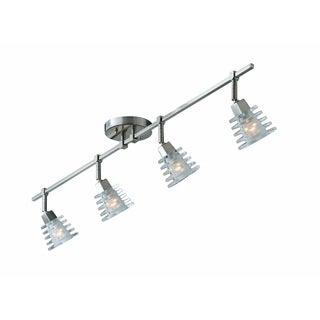 Brushed Steel Milan 4-light Bathroom/ Track Light