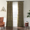 EFF Firenze Fern Flocked Faux Silk Curtain Panel