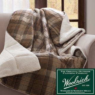 Woolrich Lumberjack Softspun Down Alternative Filled Throw