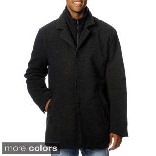 Chaps Men's Double Collar Button-front Coat
