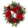 24-inch Amaryllis Wreath