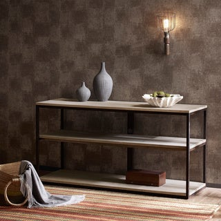 Renate Media Console Latte Finish