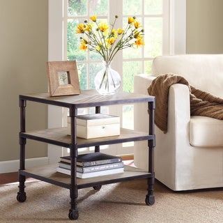 Renate Latte Finish End Table