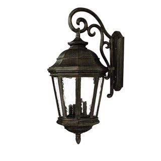 Barrington Collection Wall-mount 4-light Outdoor Black Coral Light Fixture