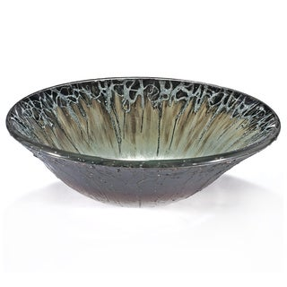 Abstract Stone Motif Glass Sink Bowl