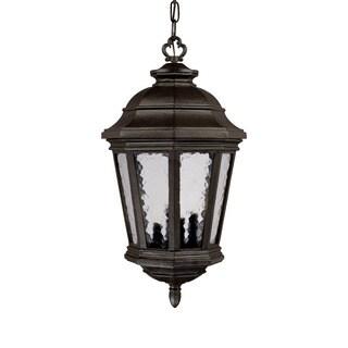 Barrington Collection Hanging Lantern 4-light Outdoor Marbleized Mahogany Light Fixture