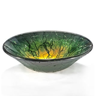 Abstract Maya Motif Glass Sink Bowl