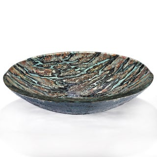 Abstract Terra Motif Glass Sink Bowl
