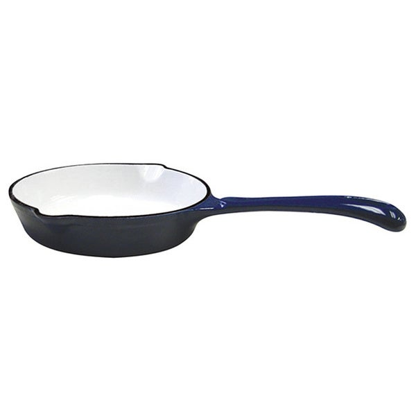 Le Cuistot Enameled Blue Cast-Iron Skillet