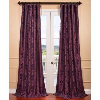 Fiori Dahlia Flocked Faux Silk Curtain Panel