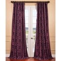 Fiori Dahlia Flocked Faux Silk Curtain Panel