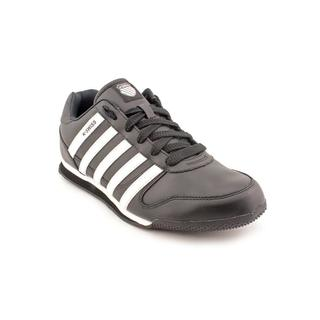 K Swiss Men's 'Whitburn Sp L' Black Leather Athletic Shoes