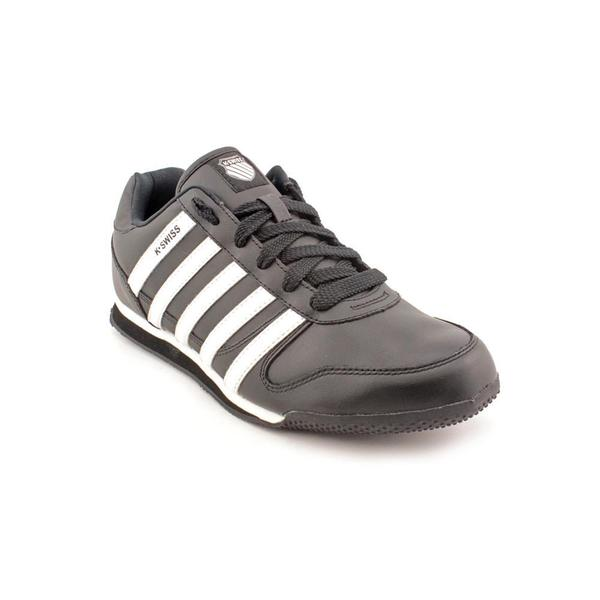 K Swiss Men's 'Whitburn Sp L' Black Leather Athletic Shoes