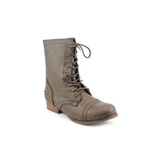 Madden Girl by Steve Madden Women's Brown 'Galllyyy' Synthetic Boots