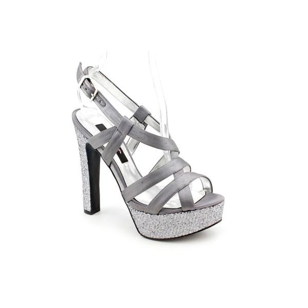 Nina Women's Gray 'Pallie' Satin Sandals