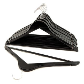 Black Wood Suit Hangers (Set of 16)