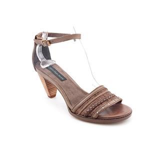 Calvin Klein Jeans Women's 'Laina' Brown Leather Sandals