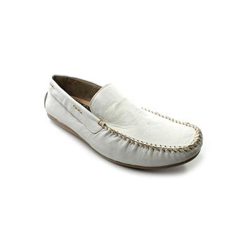Steve Madden Men's 'Kronos' White Leather Casual Shoes