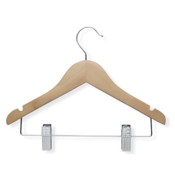 Kid's Basic Hanger with Clips (Set of 5)