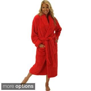Del Rossa Women's Shawl Collar Fluffy Fleece Robe