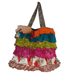 Silk Layered Tote Bag (Nepal)