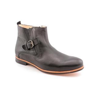 J.D.Fisk Men's 'Memphis' Black Leather Boots