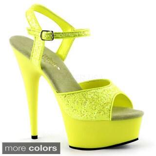 Pleaser Delight-609UVG Women's Ankle Strap Heels