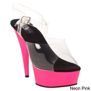 Pleaser 'Delight-608UV' Women's Ankle Strap Heels