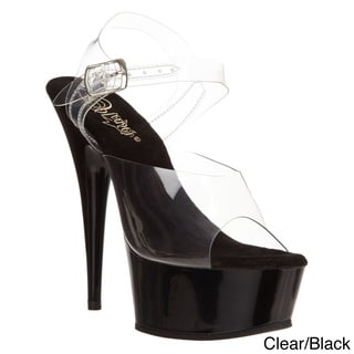 Pleaser 'Delight-608' Women's Ankle Strap Platform Heel