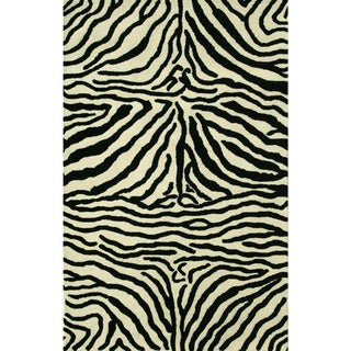 Safari Black/White Rug (8 x 11)