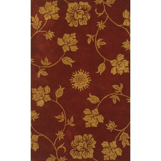 Floral Burgundy/Gold (8 x 11)