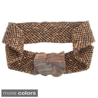 Natural Coco Beaded Stretchy Belt (Indonesia)