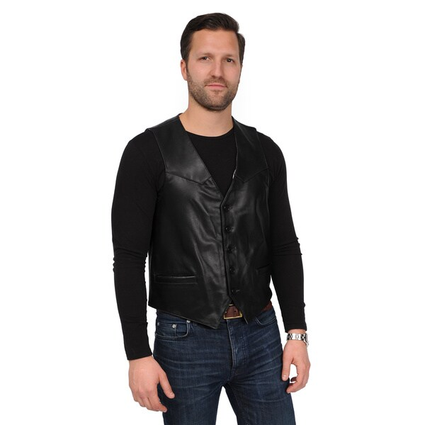 EXcelled Men's Leather Vest 11875902