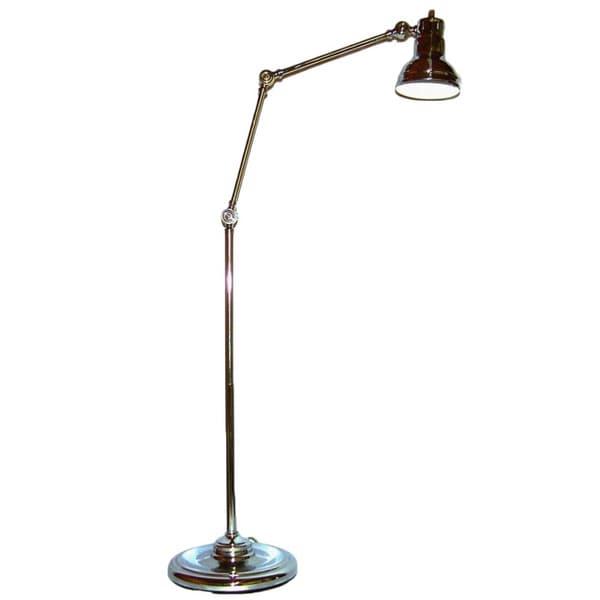 Chrome Multiple Adjustable 1-light Floor Lamp