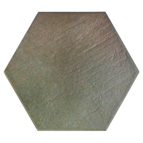 SomerTile 7x8-inch Hextile Matte Musgo Porcelain Floor and Wall Tile (Case of 14)