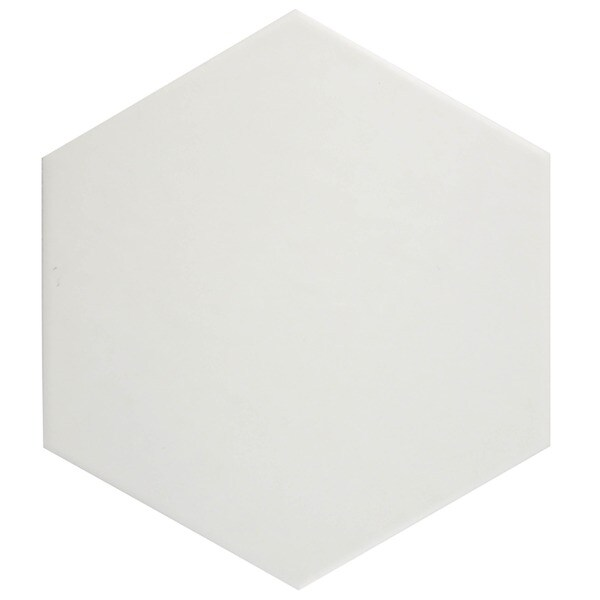 SomerTile Hextile Matte White Porcelain Floor and Wall Tile (Set of 14)