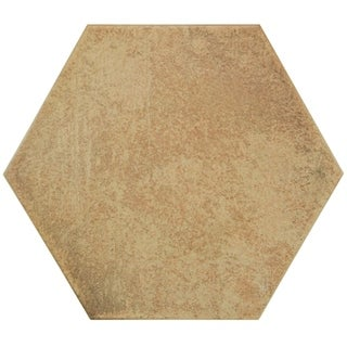 SomerTile Hextile Matte Rodeno Porcelain Floor and Wall Tile (Pack of 14)