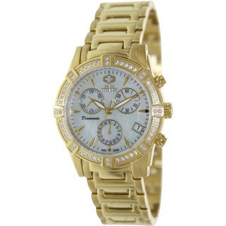 Swiss Precimax Women's Desire Elite Diamond Gold/ Stainless Steel Chronograph Watch
