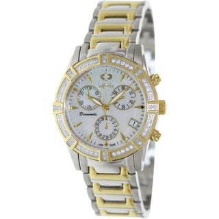 Swiss Precimax Women's Desire Elite Diamond Two-Tone Stainless Steel Chronograph Watch