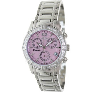 Swiss Precimax Women's Desire Elite Diamond Silver Stainless Steel Chronograph Watch
