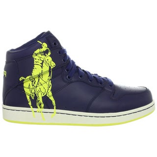 Ralph Lauren Men's 'Vance' Navy Leather High-top Sneakers