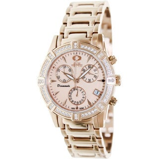 Swiss Precimax Women's Desire Elite Diamond Rosegold Stainless Steel Chronograph Watch