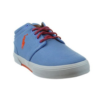 Ralph Lauren Men's 'Faxon' Greenwich Blue Canvas Sneakers