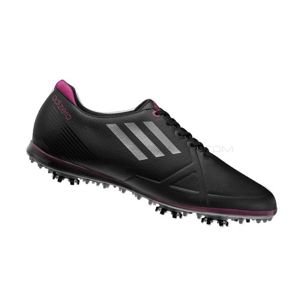 Adidas Women's Adizero Tour Black/ Silver/ Passion Golf Shoes