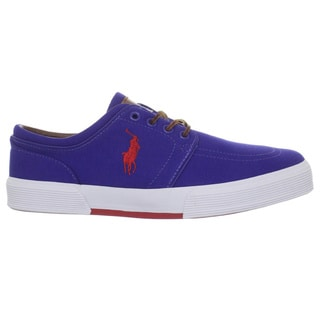 Ralph Lauren Men's 'Faxon' Blue Dolphin Canvas Sneakers