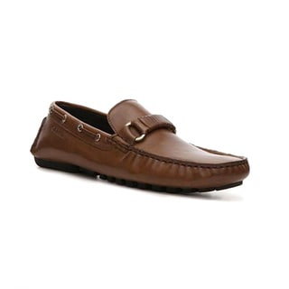 Calvin Klein Men's 'Drew' Dark Sand Leather Loafers