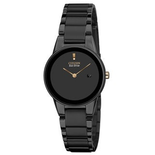 Citizen Women's GA1055-57F 'Axiom' Black Stainless Steel Watch