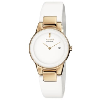 Citizen Women's GA1053-01A 'Axiom' White Leather Watch
