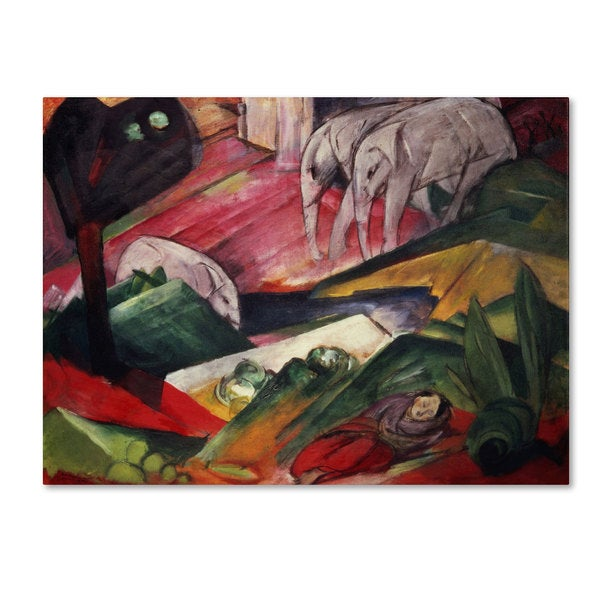 Franz Marc 'The Dream' Canvas Art