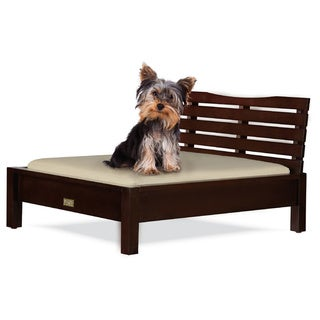 Classic Paws Sandy Beach Wood Frame Pet Bed